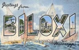 LLT201224 - Biloxi, Mississippi USA Large Letter Town Vintage Postcard Old Post Card Antique Postales, Cartes, Kartpostal