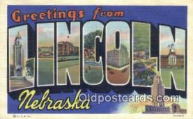 LLT201229 - Lincoln, Nebraska USA Large Letter Town Vintage Postcard Old Post Card Antique Postales, Cartes, Kartpostal