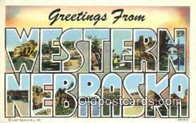 LLT201234 - Western Nebraska USA Large Letter Town Vintage Postcard Old Post Card Antique Postales, Cartes, Kartpostal