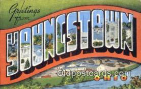 LLT201236 - Youngstown, Ohio USA Large Letter Town Vintage Postcard Old Post Card Antique Postales, Cartes, Kartpostal