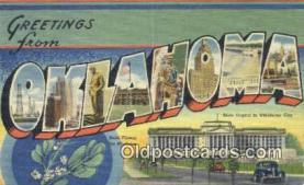 LLT201237 - Oklahoma USA Large Letter Town Vintage Postcard Old Post Card Antique Postales, Cartes, Kartpostal