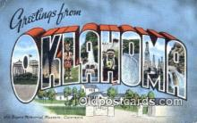 LLT201239 - Oklahoma USA Large Letter Town Vintage Postcard Old Post Card Antique Postales, Cartes, Kartpostal