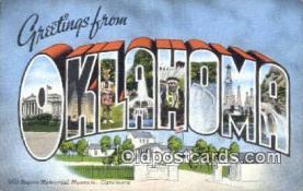 LLT201240 - Oklahoma USA Large Letter Town Vintage Postcard Old Post Card Antique Postales, Cartes, Kartpostal