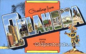 LLT201241 - Oklahoma USA Large Letter Town Vintage Postcard Old Post Card Antique Postales, Cartes, Kartpostal