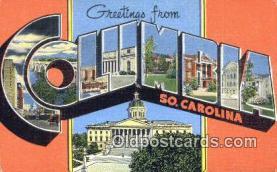 LLT201242 - Columbia, So Carolina USA Large Letter Town Vintage Postcard Old Post Card Antique Postales, Cartes, Kartpostal
