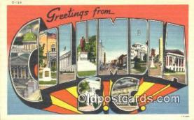 LLT201243 - Columbia, SC USA Large Letter Town Vintage Postcard Old Post Card Antique Postales, Cartes, Kartpostal