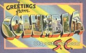 LLT201246 - Columbia, SC USA Large Letter Town Vintage Postcard Old Post Card Antique Postales, Cartes, Kartpostal