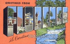 LLT201250 - Florence, S Carolina USA Large Letter Town Vintage Postcard Old Post Card Antique Postales, Cartes, Kartpostal