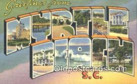 LLT201259 - Myrtle Beach, SC USA Large Letter Town Vintage Postcard Old Post Card Antique Postales, Cartes, Kartpostal