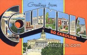 LLT201260 - Columbia, So Carolina USA Large Letter Town Vintage Postcard Old Post Card Antique Postales, Cartes, Kartpostal