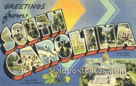 LLT201262 - South Carolina USA Large Letter Town Vintage Postcard Old Post Card Antique Postales, Cartes, Kartpostal