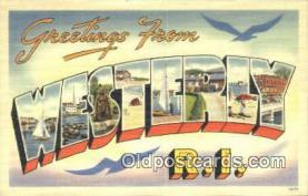LLT201264 - Westerly, RI USA Large Letter Town Vintage Postcard Old Post Card Antique Postales, Cartes, Kartpostal