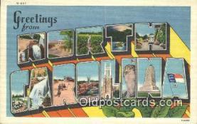 LLT201271 - North Carolina USA Large Letter Town Vintage Postcard Old Post Card Antique Postales, Cartes, Kartpostal