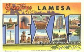LLT201274 - Texas USA Large Letter Town Vintage Postcard Old Post Card Antique Postales, Cartes, Kartpostal