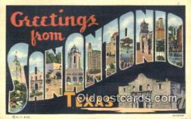 LLT201275 - San Antonio, Texas USA Large Letter Town Vintage Postcard Old Post Card Antique Postales, Cartes, Kartpostal