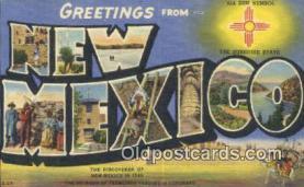 LLT201277 - New Mexico USA Large Letter Town Vintage Postcard Old Post Card Antique Postales, Cartes, Kartpostal