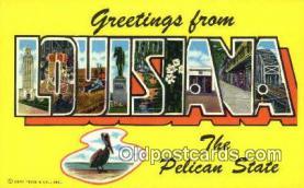 LLT201280 - Louisiana USA Large Letter Town Vintage Postcard Old Post Card Antique Postales, Cartes, Kartpostal