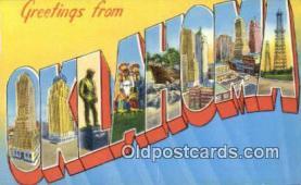 LLT201284 - Oklahoma USA Large Letter Town Vintage Postcard Old Post Card Antique Postales, Cartes, Kartpostal