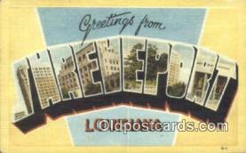 LLT201285 - Jhreveport, Louisana USA Large Letter Town Vintage Postcard Old Post Card Antique Postales, Cartes, Kartpostal