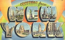 LLT201287 - New York USA Large Letter Town Vintage Postcard Old Post Card Antique Postales, Cartes, Kartpostal