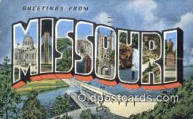 LLT201290 - Missouri USA Large Letter Town Vintage Postcard Old Post Card Antique Postales, Cartes, Kartpostal