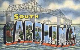 LLT201294 - South Carolina USA Large Letter Town Vintage Postcard Old Post Card Antique Postales, Cartes, Kartpostal