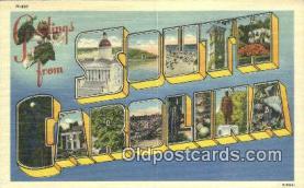LLT201295 - South Carolina USA Large Letter Town Vintage Postcard Old Post Card Antique Postales, Cartes, Kartpostal