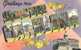 LLT201296 - South Carolina USA Large Letter Town Vintage Postcard Old Post Card Antique Postales, Cartes, Kartpostal