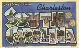LLT201297 - South Carolina USA Large Letter Town Vintage Postcard Old Post Card Antique Postales, Cartes, Kartpostal