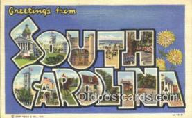 LLT201298 - South Carolina USA Large Letter Town Vintage Postcard Old Post Card Antique Postales, Cartes, Kartpostal