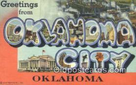 LLT201304 - Oklahoma City, Oklahoma USA Large Letter Town Vintage Postcard Old Post Card Antique Postales, Cartes, Kartpostal