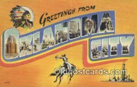 LLT201305 - Oklahoma City USA Large Letter Town Vintage Postcard Old Post Card Antique Postales, Cartes, Kartpostal
