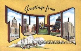 LLT201306 - Tulsa, Oklahoma USA Large Letter Town Vintage Postcard Old Post Card Antique Postales, Cartes, Kartpostal