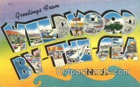 LLT201310 - Wildwood by the Sea, NJ USA Large Letter Town Vintage Postcard Old Post Card Antique Postales, Cartes, Kartpostal