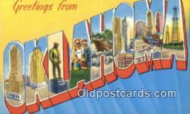 LLT201313 - Oklahoma USA Large Letter Town Vintage Postcard Old Post Card Antique Postales, Cartes, Kartpostal