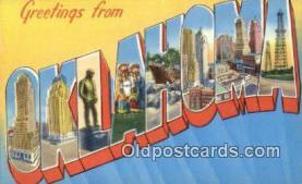 LLT201314 - Oklahoma USA Large Letter Town Vintage Postcard Old Post Card Antique Postales, Cartes, Kartpostal