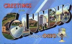 LLT201317 - Columbus, Ohio USA Large Letter Town Vintage Postcard Old Post Card Antique Postales, Cartes, Kartpostal