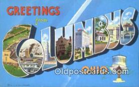 LLT201318 - Columbus, Ohio USA Large Letter Town Vintage Postcard Old Post Card Antique Postales, Cartes, Kartpostal