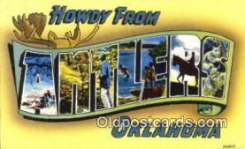 LLT201321 - Antlers, Oklahoma USA Large Letter Town Vintage Postcard Old Post Card Antique Postales, Cartes, Kartpostal