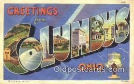 LLT201323 - Columbus, Ohio USA Large Letter Town Vintage Postcard Old Post Card Antique Postales, Cartes, Kartpostal