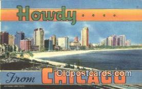 LLT201325 - Chicago USA Large Letter Town Vintage Postcard Old Post Card Antique Postales, Cartes, Kartpostal
