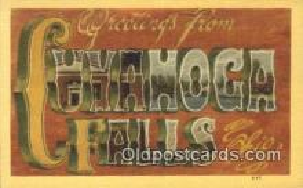 LLT201330 - Cuvahoga Falls, Ohio USA Large Letter Town Vintage Postcard Old Post Card Antique Postales, Cartes, Kartpostal