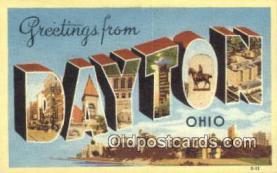 LLT201331 - Dayton, Ohio USA Large Letter Town Vintage Postcard Old Post Card Antique Postales, Cartes, Kartpostal