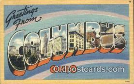 LLT201335 - Columbus, Ohio USA Large Letter Town Vintage Postcard Old Post Card Antique Postales, Cartes, Kartpostal