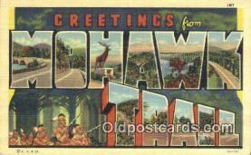 LLT201337 - Mohawk Trail USA Large Letter Town Vintage Postcard Old Post Card Antique Postales, Cartes, Kartpostal