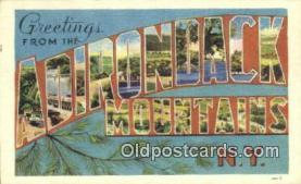 LLT201340 - Adirondack Mountains, NY USA Large Letter Town Vintage Postcard Old Post Card Antique Postales, Cartes, Kartpostal