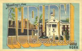 LLT201341 - Auburn, New York USA Large Letter Town Vintage Postcard Old Post Card Antique Postales, Cartes, Kartpostal
