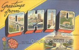 LLT201348 - Ohio USA Large Letter Town Vintage Postcard Old Post Card Antique Postales, Cartes, Kartpostal
