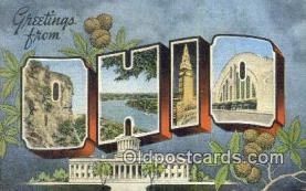 LLT201349 - Ohio USA Large Letter Town Vintage Postcard Old Post Card Antique Postales, Cartes, Kartpostal