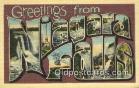 LLT201354 - Niagara Falls USA Large Letter Town Vintage Postcard Old Post Card Antique Postales, Cartes, Kartpostal